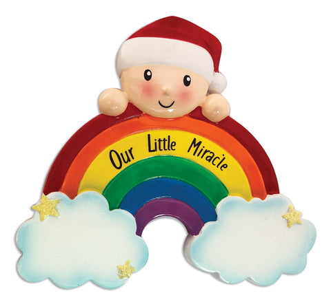 OR1965 - Rainbow Baby Personalized Christmas Ornament