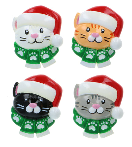 OR2177-A - Cat w/Scarf Add On Assortment Personalized Christmas Ornament