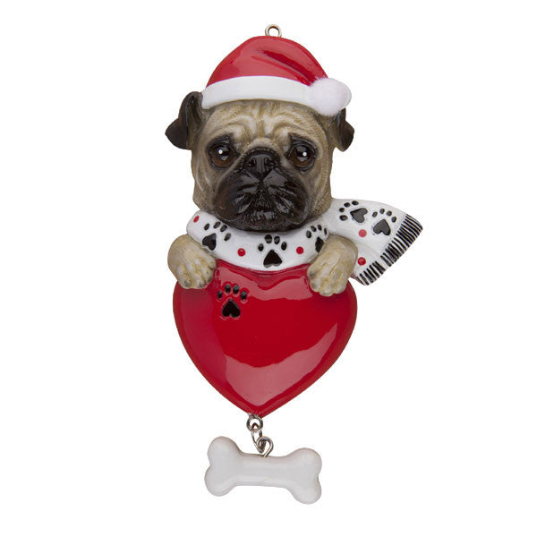 OR277 - Pug Personalized Christmas Ornament