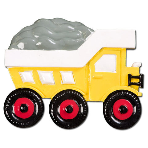 OR392 - Dump Truck Personalized Christmas Ornament