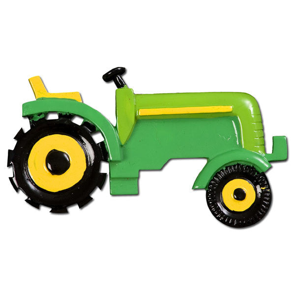 OR393-G - Green Tractor Personalized Christmas Ornament