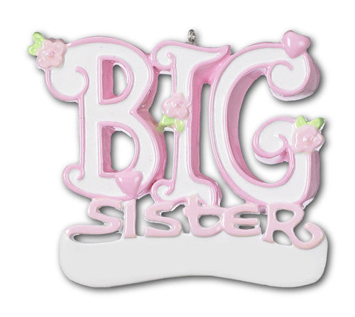 OR448 - Big Sister Personalized Christmas Ornament