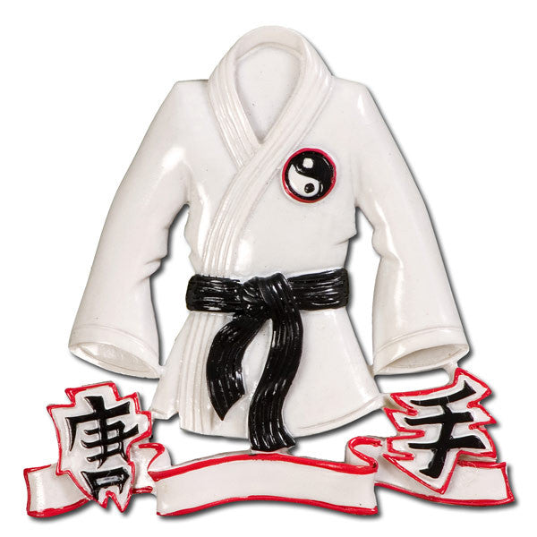 OR484 - Karate Jacket Personalized Christmas Ornament