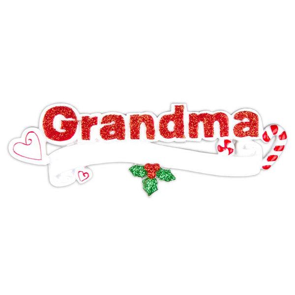 OR615 - Grandma Personalized Christmas Ornament