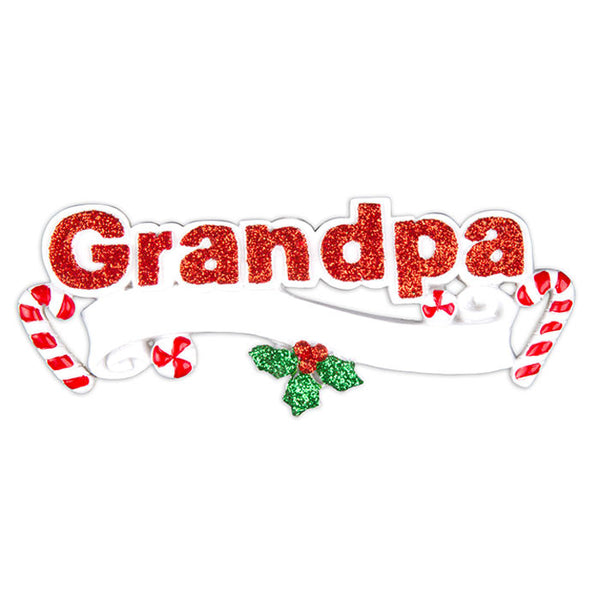 OR616 - Grandpa Personalized Christmas Ornament