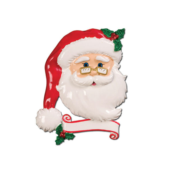 OR652 - Jolly Santa Personalized Christmas Ornament