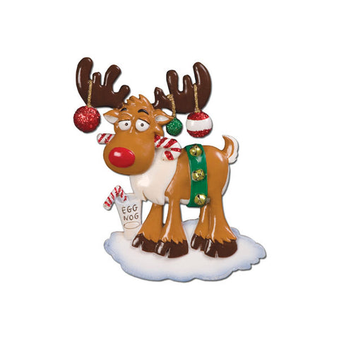 OR654 - Christmas Moose Personalized Christmas Ornament