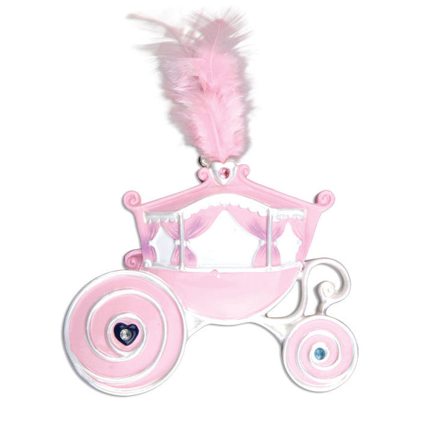 OR666 - Princess Carriage Personalized Christmas Ornament
