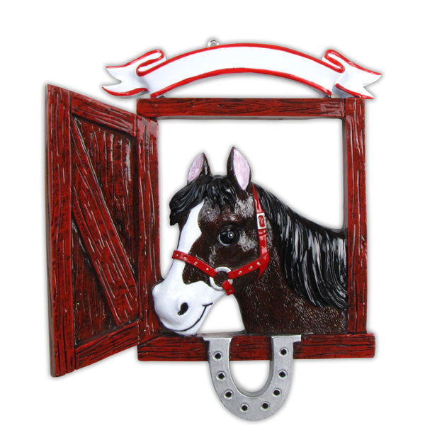 OR667 - Love My Horse Personalized Christmas Ornament