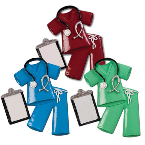 OR724-A - Scrubs Personalized Christmas Ornament