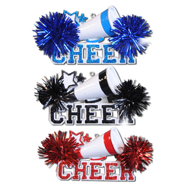 OR731-A - Cheer (4-Blue, 4-Red and 4- - OR731-A - Cheer (4-Blue, 4-Red And 4-Black) Personalized Christmas