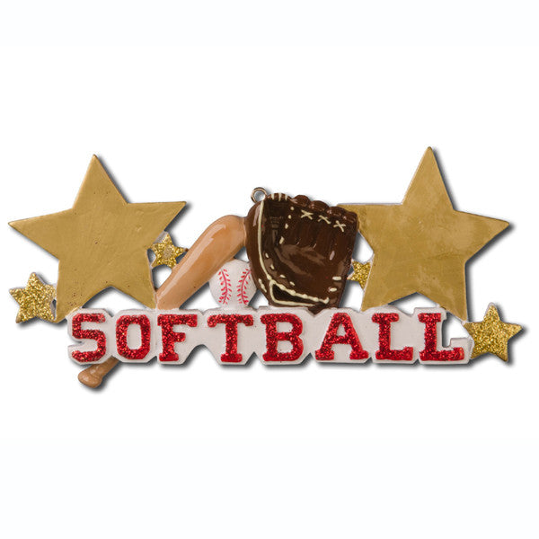 OR733 - Softball Personalized Christmas Ornament