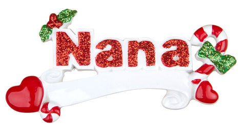 OR743 - Nana Personalized Christmas Ornament