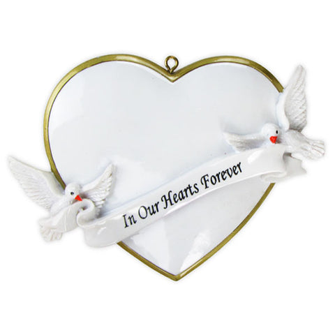 OR782 - In Our Hearts Christmas Forever Personalized Christmas Ornament