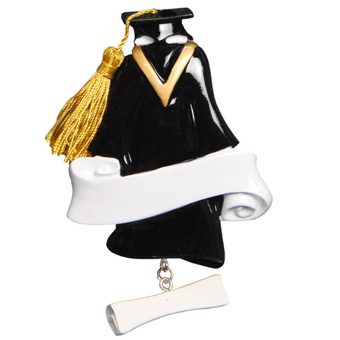 OR789 - Grad Gown Personalized Christmas Ornament