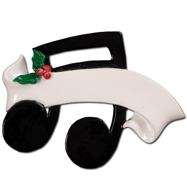 OR790 - Musical Note Personalized Christmas Ornament
