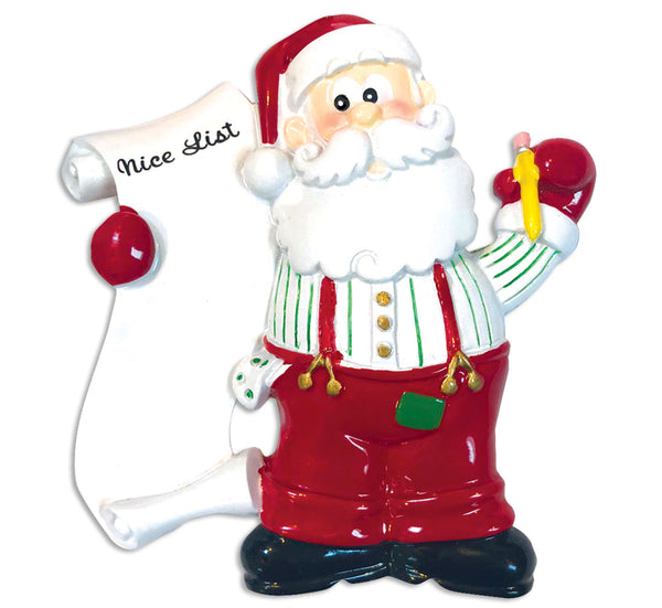 OR812 - Santa's List Personalized Christmas Ornament