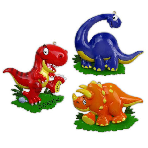 OR816-A - Dinosaur (3 Kinds) Personalized Christmas Ornament