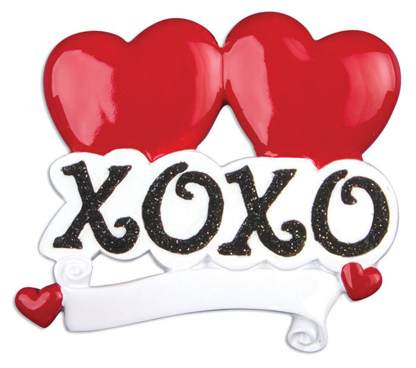 OR818 - Hugs 'N Kisses Personalized Christmas Ornament