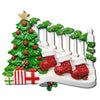 OR823-3 - Bannister with 3 Stockings Personalized Christmas Ornament