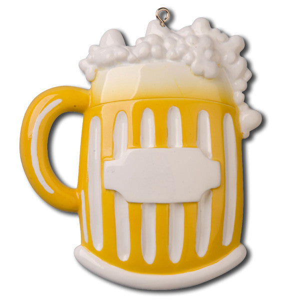 OR848 - Beer Mug Personalized Christmas Ornament