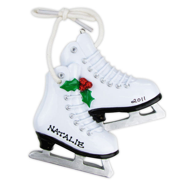 OR863 - Figure Skates Personalized Christmas Ornament
