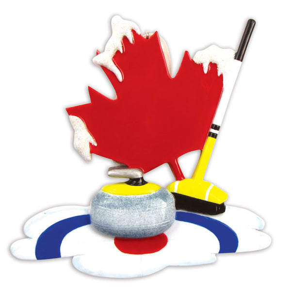 OR864 - Canadian Curling Personalized Christmas Ornament