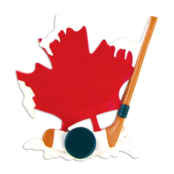 OR865 - Canadian Hockey Personalized Christmas Ornament