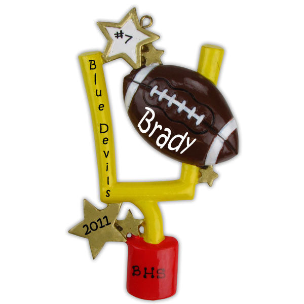 OR872 - Football Personalized Christmas Ornament