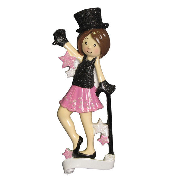 OR874 - Jazz Dancer Personalized Christmas Ornament