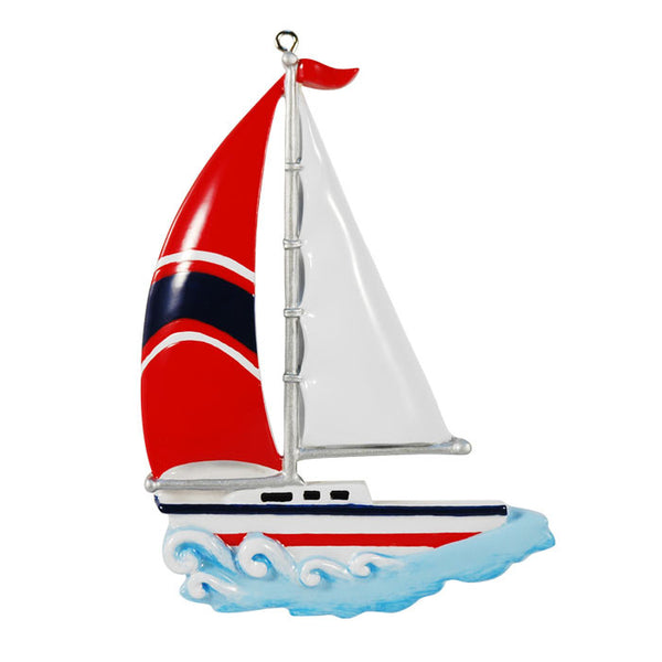 OR880 - Sailboat Personalized Christmas Ornament