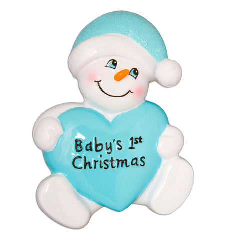 OR899-B - Snowbaby with Heart-Blue
