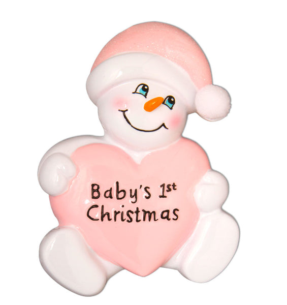 OR899-P - Snowbaby with Heart-Pink