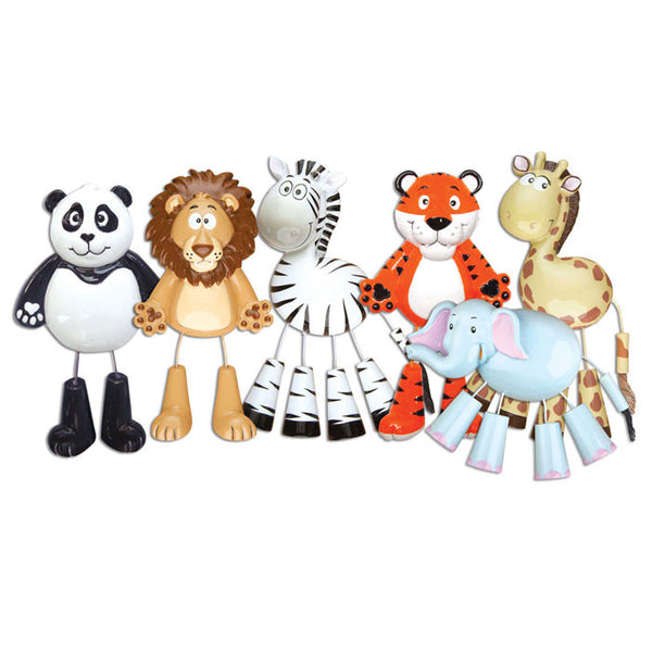 OR909-A - Lion/Zebra/Giraffe/Elephant (2 of each)