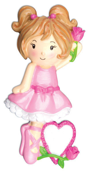 OR914 - Ballet Girl Personalized Christmas Ornaments
