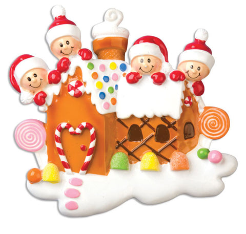 OR965-4 - Gingerbread House With 4