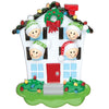 OR976-4 - House Family of 4 Personalized Christmas Ornaments