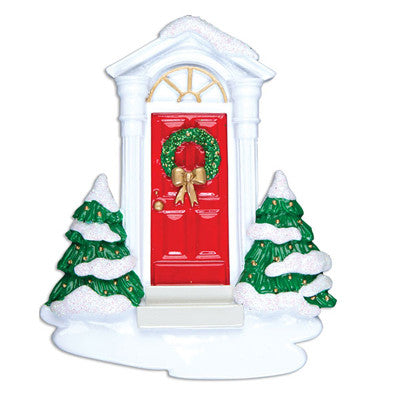 OR999 - New Red Door Personalized Christmas Ornaments