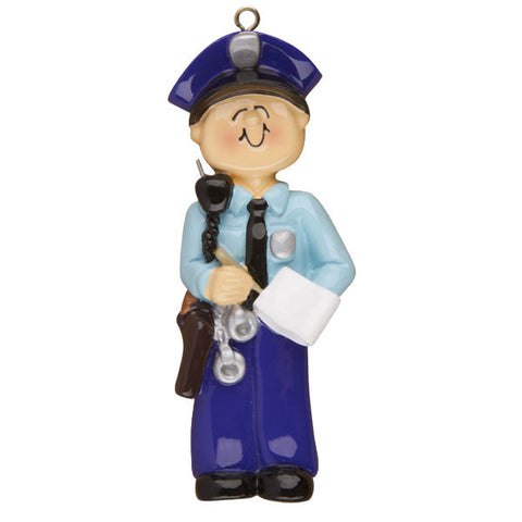 ORC-059 - Male Police Personalized Christmas Ornament