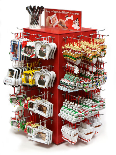 Ornament Countertop Program - Spin Rack Countertop Display for Christmas Ornaments