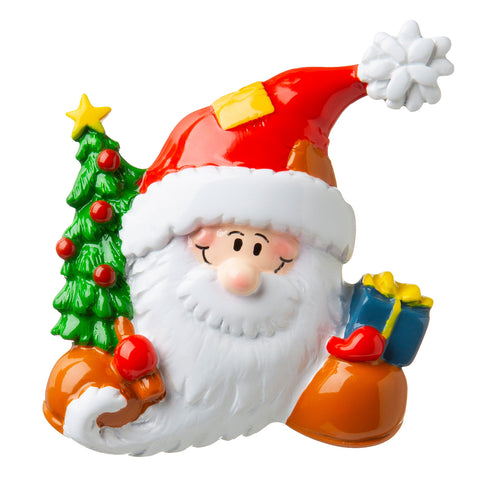 P18-03-042 - Santa Face in Cap Personalized Christmas Ornament