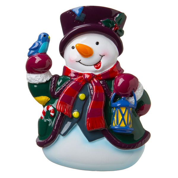 P18-03-082 - Snowman with Lantern Personalized Christmas Ornament