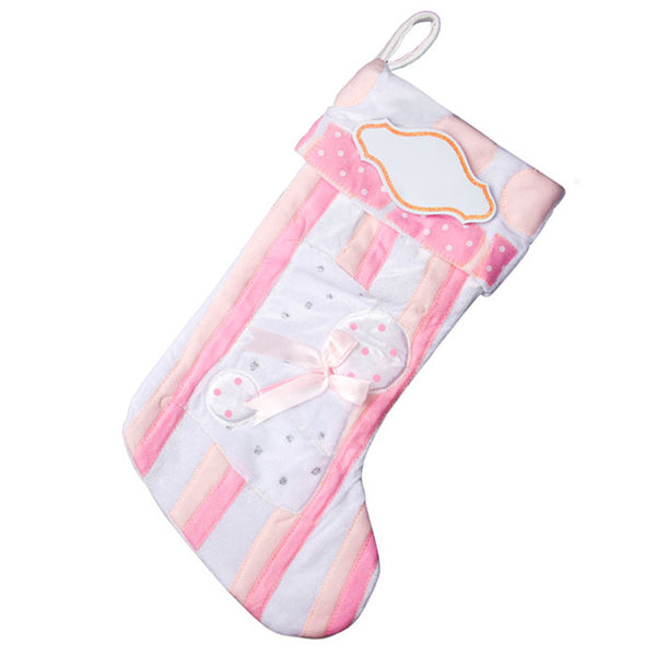 PBS101 BP - Baby Pink Personalized Christmas Stocking
