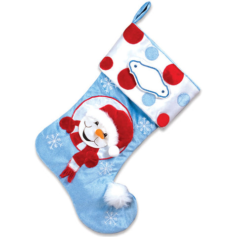 PBS125 SB - Snow Buddy Personalized Christmas Stocking