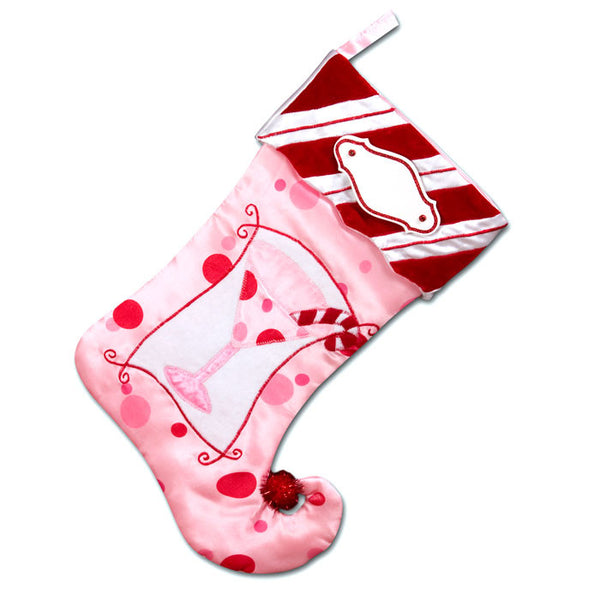 PBS131 PM - Pink Martini Personalized Christmas Stocking