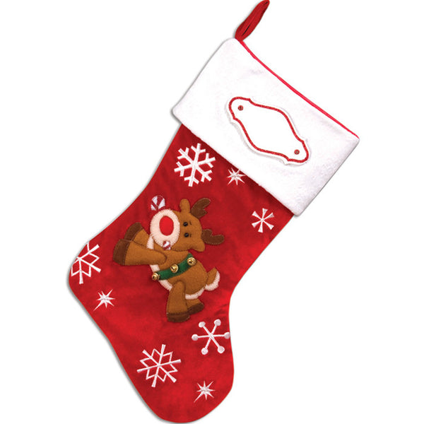 PBS137 LR - Lil' Reindeer Personalized Christmas Stocking