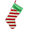 PBS146 RG - New Red+Green Personalized Christmas Stocking