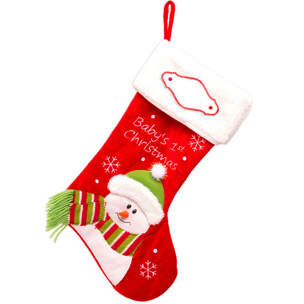 PBS150 BR - Baby's First Christmas Stocking (Red)