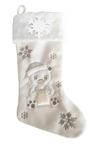 PBS154 PB - Teddy Bear Personalized Christmas Stocking