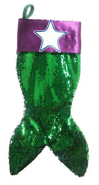 PBS155 MS - Mermaid Sequin Personalized Christmas Stocking